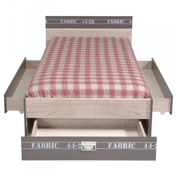Funktionsbett Fabric Parisot Grau